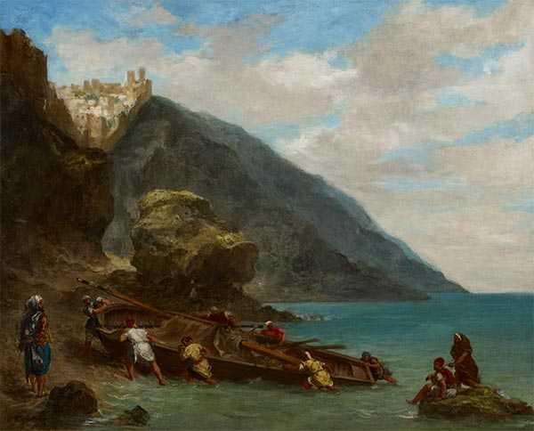 View of Tangier from the Seashore, c.1856/58 | Eugène Delacroix | Painting Reproduction
