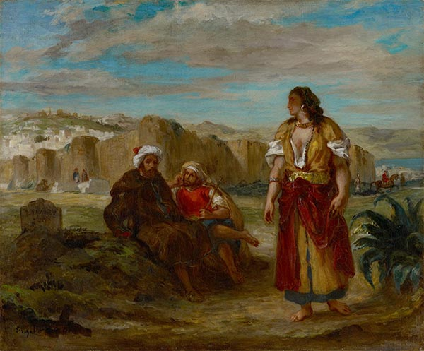 View of Tangier, c.1852/53 | Eugène Delacroix | Painting Reproduction