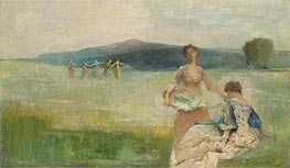 Spring, 1890 by Thomas Wilmer Dewing | Painting Reproduction