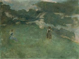 The Hermit Thrush, 1890 by Thomas Wilmer Dewing | Painting Reproduction