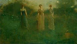 In the Garden, c.1892/94 by Thomas Wilmer Dewing | Painting Reproduction