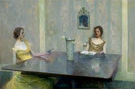 A Reading, 1897 by Thomas Wilmer Dewing | Painting Reproduction