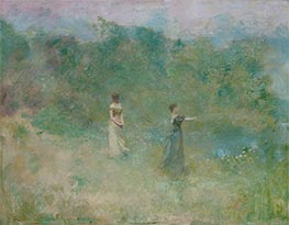 Summer, c.1890 by Thomas Wilmer Dewing | Painting Reproduction