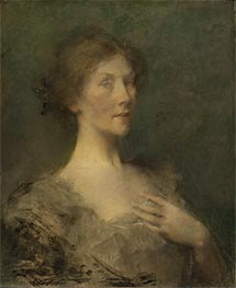 Portrait of a Lady, c.1895 by Thomas Wilmer Dewing | Painting Reproduction