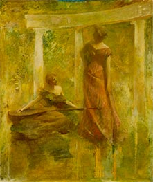 Music, c.1895 by Thomas Wilmer Dewing | Painting Reproduction