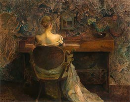 The Spinet, c.1902 by Thomas Wilmer Dewing | Painting Reproduction
