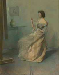 The Necklace, c.1907 by Thomas Wilmer Dewing | Painting Reproduction