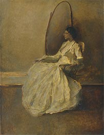 Lady in White I, c.1910 by Thomas Wilmer Dewing | Painting Reproduction