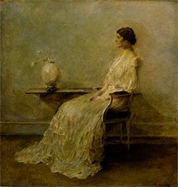 Lady in White II, c.1910 by Thomas Wilmer Dewing | Painting Reproduction