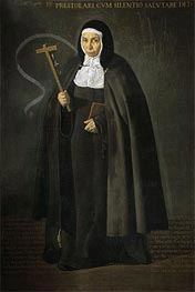 The Venerable Mother Jeronima de la Fuente, 1620 von Velazquez | Gemälde-Reproduktion