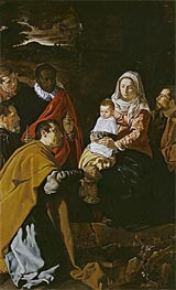 The Adoration of the Magi, 1619 von Velazquez | Gemälde-Reproduktion