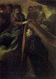St. Idelfonso Receiving Chasuble from the Virgin, c.1620 von Velazquez | Gemälde-Reproduktion