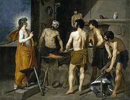 The Forge of Vulcan, c.1630 von Velazquez | Gemälde-Reproduktion