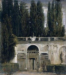 Villa Medici in Rome (Pavillion of Ariadne), c.1630 by Velazquez | Painting Reproduction