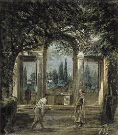 Villa Medici in Rome (Facade of the Grotto-Logia), c.1630 von Velazquez | Gemälde-Reproduktion