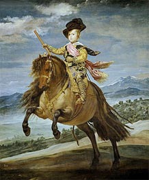 Prince Baltasar Carlos on Horseback, c.1635/36 by Velazquez | Painting Reproduction