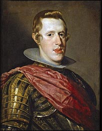 Philip IV in Armour, c.1626/28 von Velazquez | Gemälde-Reproduktion