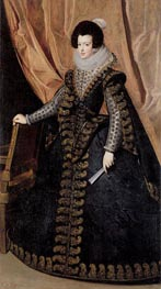 Queen Isabel, Standing | Velazquez | Painting Reproduction