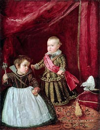 Prince Baltasar Carlos with a Dwarf | Velazquez | Painting Reproduction
