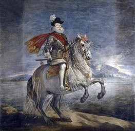 Philip III on Horseback | Velazquez | Painting Reproduction