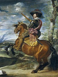 Equestrian Portrait of Don Gaspar de Guzman Count-Duke of Olivares | Velazquez | Painting Reproduction