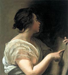 Female Figure (Sibyl with Tabula Rasa) | Velazquez | Painting Reproduction