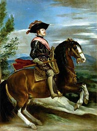 Equestrian Portrait of King Philip IV of Spain | Velazquez | Painting Reproduction