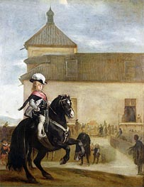 Prince Balthasar Carlos in the Riding School | Velazquez | Painting Reproduction