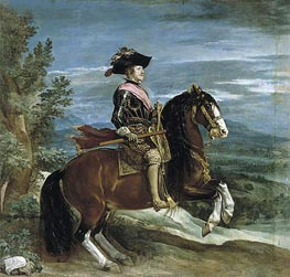 Equestrian Portrait of Philip IV, c.1636 by Velazquez | Painting Reproduction