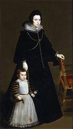 Antonia de Ipenarrieta y Galdos and her Son, Luis | Velazquez | Painting Reproduction