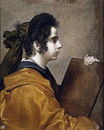 Juana Pacheco, Wife of the Artist as a Sibyl | Velazquez | Painting Reproduction