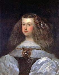 Dona Mariana of Austria, Queen of Spain, 1649 by Velazquez | Painting Reproduction
