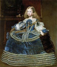 Infanta Margarita Teresa in a Blue Dress | Velazquez | Painting Reproduction