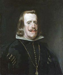 Philip IV of Spain, c.1656 by Velazquez | Painting Reproduction