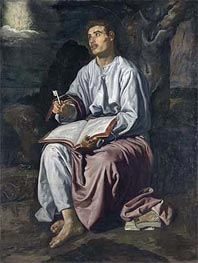 Saint John the Evangelist on the Island of Patmos, c.1618 by Velazquez | Painting Reproduction