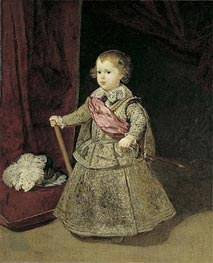 Prince Baltasar Carlos in Silver, 1633 by Velazquez | Painting Reproduction