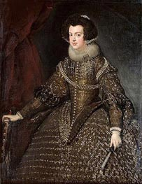 Queen Isabel of Spain, 1632 von Velazquez | Gemälde-Reproduktion