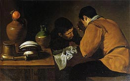 Two Men at Table, c.1620/21 von Velazquez | Gemälde-Reproduktion