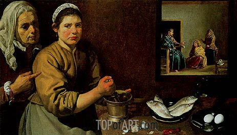 Christ in the House of Martha and Mary, 1618   Velazquez   Painting Reproduction