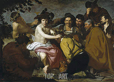 The Triumph of Bacchus, c.1628/29 | Velazquez | Gemälde Reproduktion