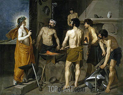The Forge of Vulcan, c.1630 | Velazquez | Painting Reproduction
