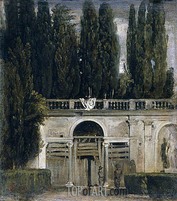 Villa Medici in Rome (Pavillion of Ariadne), c.1630 | Velazquez | Painting Reproduction