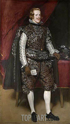 Philip IV in Brown and Silver, c.1631/32 | Velazquez | Painting Reproduction