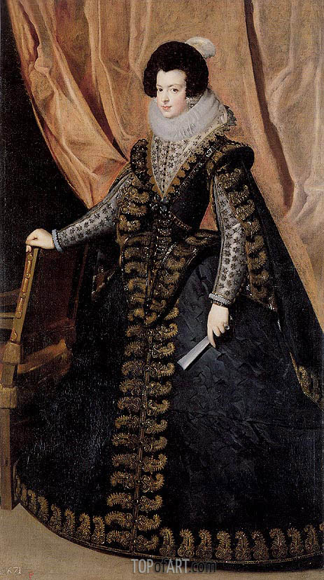 Queen Isabel, Standing, c.1631/32 | Velazquez | Painting Reproduction