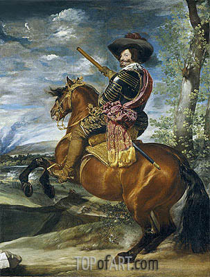 Equestrian Portrait of Don Gaspar de Guzman Count-Duke of Olivares, 1635 | Velazquez | Gemälde Reproduktion