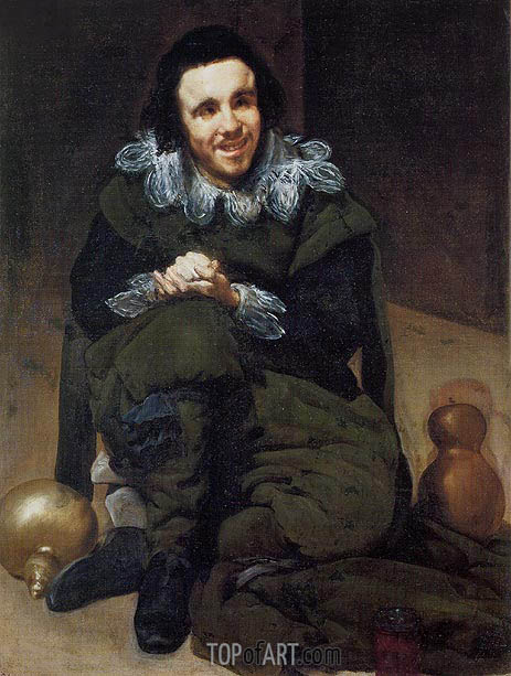 The Buffoon Calabazaz (Calabacillas), c.1637/39 | Velazquez | Painting Reproduction