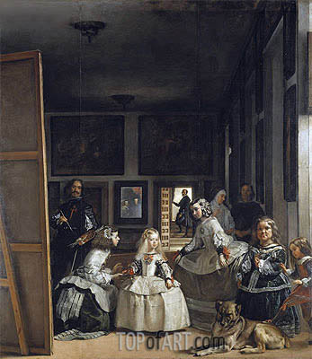 Las Meninas (The Maids of Honor), c.1656 | Velazquez | Gemälde Reproduktion