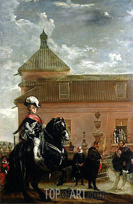 Prince Baltasar Carlos with Count-Duke of Olivares, c.1636 | Velazquez | Painting Reproduction