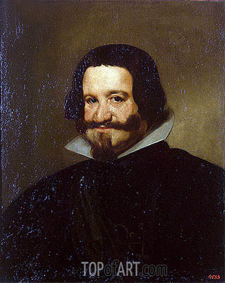 Portrait of Count-Duke Olivares, 1638 | Velazquez | Gemälde Reproduktion