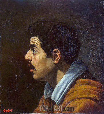 Head of a Man in Profile, c.1616 | Velazquez | Painting Reproduction